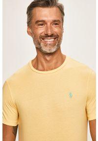 Żółty t-shirt Polo Ralph Lauren na co dzień, casualowy