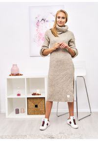 Czarny sweter Ligari Dresses elegancki, w paski #10