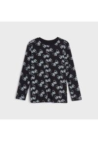 Sinsay - Koszulka z nadrukiem - Czarny. Kolor: czarny. Wzór: nadruk
