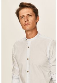Niebieska koszula Only & Sons ze stójką, casualowa, długa