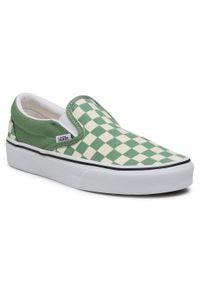 Zielone buty sportowe Vans Classic, na co dzień, z cholewką, bez zapięcia