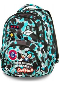 Patio Plecak szkolny Coolpack Cp Camo niebieski. Kolor: niebieski