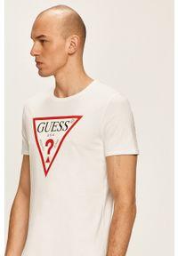 Biały t-shirt Guess Jeans z nadrukiem