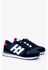 Casu - Granatowe buty sportowe sznurowane casu 9-k2161b. Kolor: niebieski