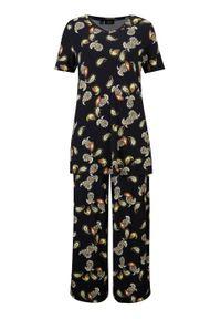 """Shirt + spodnie culotte z przyjaznej dla środowiska wiskozy (2 części) bonprix czarny """"paisley"""". Kolor: czarny. Materiał: wiskoza. Wzór: paisley"""