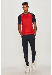 Czerwony t-shirt Tommy Sport na co dzień, sportowy, z aplikacjami