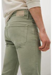 Zielone jeansy Mango Man gładkie