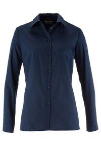 Bluzka bonprix ciemnoniebieski. Typ kołnierza: kołnierzyk klasyczny. Kolor: niebieski