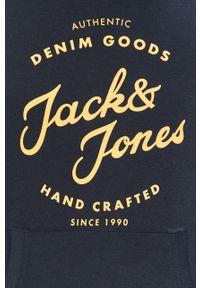 Niebieska bluza nierozpinana Jack & Jones z nadrukiem, na co dzień
