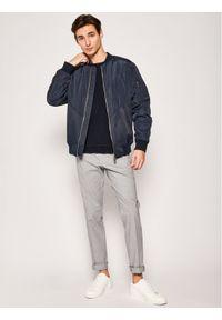 BOSS - Boss Spodnie materiałowe Wylson-W 50427200 Szary Extra Slim Fit. Kolor: szary. Materiał: materiał