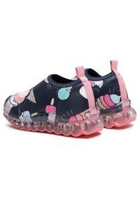 Bibi - Sneakersy BIBI - Roller Celebration 1079103 Print/Ice Cream. Okazja: na spacer. Kolor: niebieski. Materiał: materiał. Szerokość cholewki: normalna. Wzór: nadruk