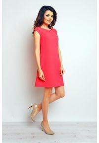 Infinite You - Trapezowa sukienka na lato neonowy koral. Sezon: lato. Typ sukienki: trapezowe. Długość: mini