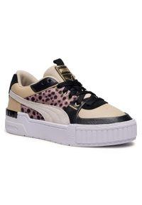 Beżowe buty sportowe Puma z cholewką, na co dzień