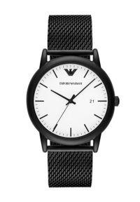 Emporio Armani - Zegarek AR11046. Kolor: czarny. Materiał: materiał