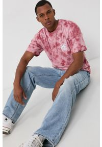Vans - T-shirt bawełniany. Kolor: różowy. Materiał: bawełna. Wzór: nadruk