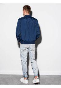 Niebieska kurtka Ombre Clothing na wiosnę #6