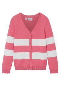 Różowy sweter bonprix w paski