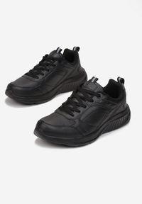 Born2be - Czarne Buty Sportowe Chizaly. Nosek buta: okrągły. Kolor: czarny. Materiał: jeans, dresówka. Szerokość cholewki: normalna