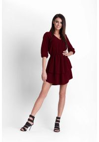 Czerwona sukienka rozkloszowana IVON