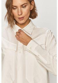 G-Star RAW - G-Star Raw - Koszula bawełniana. Okazja: na co dzień. Kolor: biały. Materiał: bawełna. Długość rękawa: długi rękaw. Długość: długie. Styl: casual