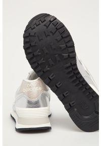 Srebrne buty sportowe New Balance New Balance 574, z okrągłym noskiem