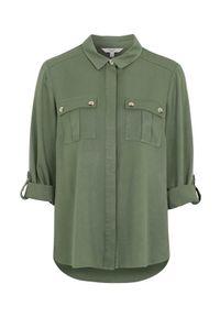 Cellbes Koszula bojówkowa z diagonalu khaki female zielony 34/36. Kolor: zielony. Materiał: wiskoza, materiał. Długość rękawa: długi rękaw. Długość: długie. Styl: elegancki