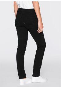 Spodnie z wysoką talią bonprix czarny. Kolor: czarny