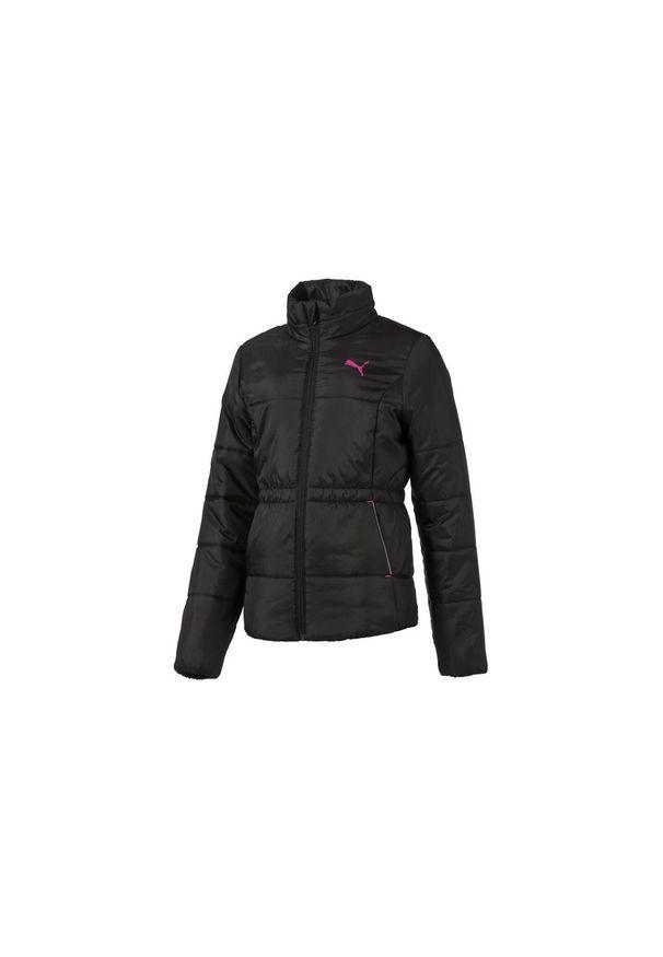 Czarna kurtka Puma w kolorowe wzory