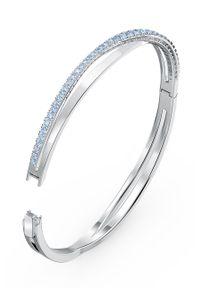 Srebrna bransoletka Swarovski z kryształem, metalowa