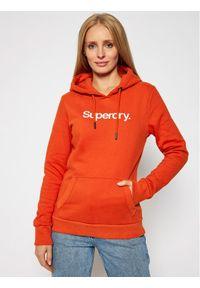 Superdry Bluza Patina W2010375A Pomarańczowy Regular Fit. Kolor: pomarańczowy