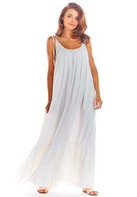 Biała sukienka rozkloszowana Awama na lato, maxi