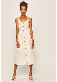 Biała sukienka Vila midi, na co dzień, prosta #5