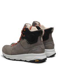 Szare buty trekkingowe Dolomite Gore-Tex, trekkingowe