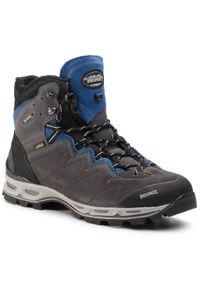 Szare buty trekkingowe MEINDL Gore-Tex, z cholewką, trekkingowe