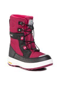 Różowe buty zimowe Reima z cholewką