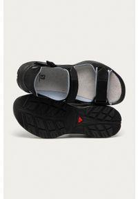 salomon - Salomon - Sandały Tech Sandal Free. Zapięcie: rzepy. Kolor: czarny. Materiał: skóra, materiał, guma. Wzór: gładki