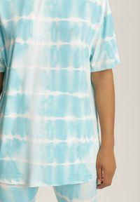 Renee - Jasnoniebieski 2-Częściowy Komplet Dresowy Absyrobus. Kolor: niebieski. Materiał: dresówka. Wzór: paski