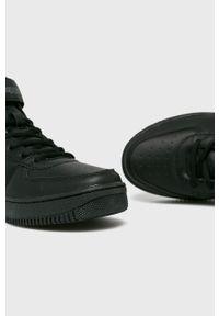 Czarne sneakersy Kappa z okrągłym noskiem, na rzepy, z cholewką