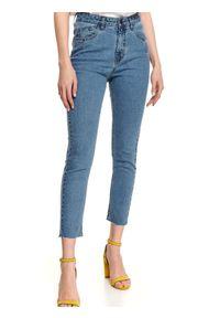 TOP SECRET - Spodnie jeansowe skinny. Okazja: do pracy. Kolor: niebieski. Materiał: jeans. Sezon: jesień. Styl: klasyczny