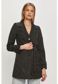 Czarny płaszcz Vero Moda casualowy, gładki