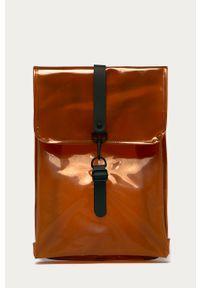 Pomarańczowy plecak Rains