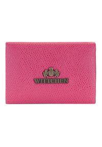Wittchen - Etui na wizytówki ze skóry saffiano. Kolor: różowy. Materiał: skóra