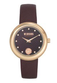 Versus Versace - Zegarek VSPEN1320. Kolor: czerwony. Materiał: skóra, materiał