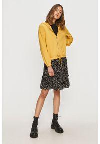Żółta bluza rozpinana only na co dzień, z kapturem, casualowa