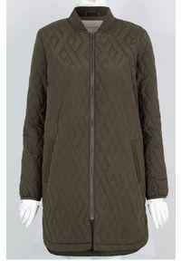 Soyaconcept Lekki płaszcz Fenya ciemne khaki female zielony XXL (46). Kolor: zielony. Materiał: prążkowany. Długość rękawa: długi rękaw. Długość: długie
