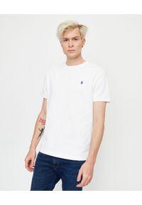 Ralph Lauren - RALPH LAUREN - Biały t-shirt Regular Fit. Okazja: na co dzień. Typ kołnierza: polo. Kolor: biały. Materiał: bawełna. Wzór: haft. Styl: casual, klasyczny