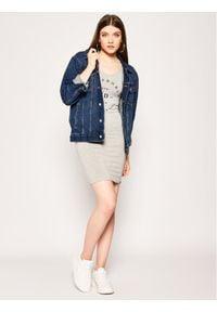 Superdry Sukienka letnia Graphic Bodycon W8010135A Szary Regular Fit. Kolor: szary. Sezon: lato. Typ sukienki: bodycon