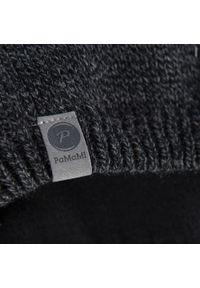 Zimowa czapka męska PaMaMi - Ciemnoszara mulina. Kolor: szary. Materiał: akryl. Wzór: ze splotem, gładki. Sezon: zima