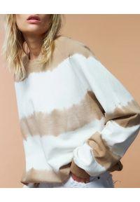 SER.O.YA - Bawełniana bluza Nick. Kolor: beżowy. Materiał: bawełna. Długość rękawa: długi rękaw. Długość: długie