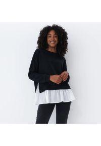 Mohito - Bluza z koszulą - Czarny. Kolor: czarny